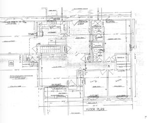 Photo of revised floor plan