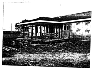 Photo of Covington House in construction