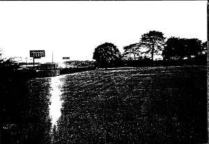 Picture of the Mount Vernon motel from a half-mile distance