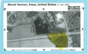 Satellite photo of the city of Mount Vernon