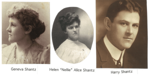 Photo of the Shantz children Geneva, Helen and Harry
