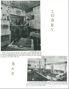 Photos of the interior lobby of the Cedar Springs Hotel