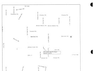 Map of rural Mount Vernon