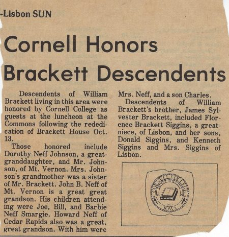 Photo of newspaper article