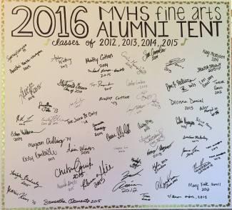 2016 alumni tent signatures