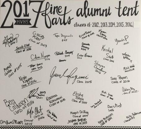 2017 alumni tent signatures