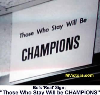Those Who Stay Will Be Champions Bo Schembechler
