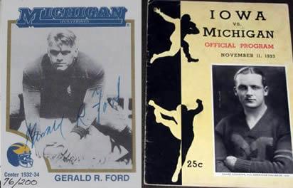 Gerald Ford 1933 Michigan football