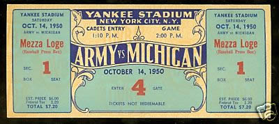 1950 Army Michigan stub