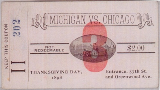 1898 Chicago-Michigan Ticket Stub