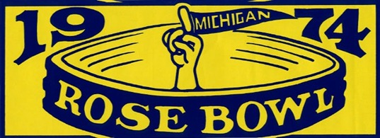 1974 Rose Bowl Michigan