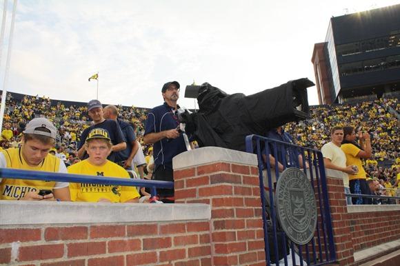 Michigan stadium endzone camera
