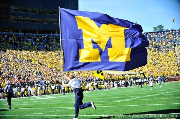 M Flag Michigan Stadium