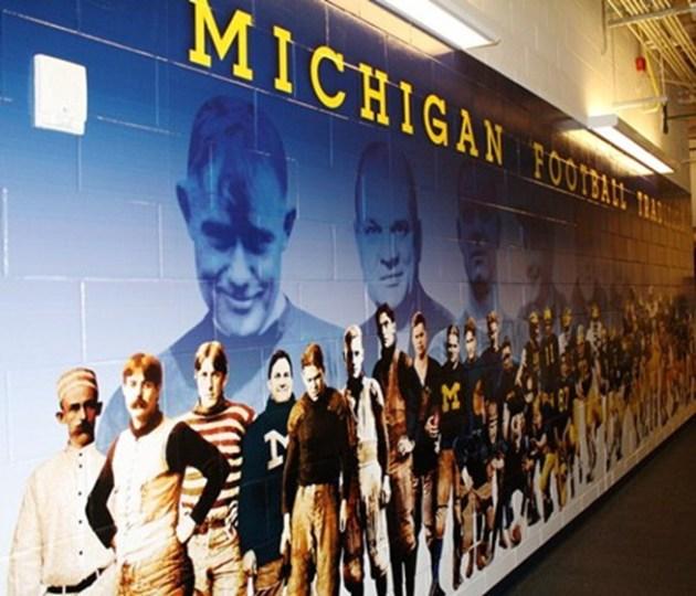 Michigan Football mural