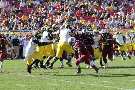 Denard Robinson cuts   2013 Outback Bowl