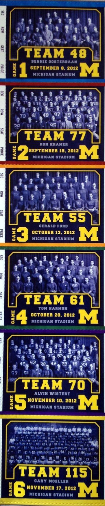 2012 Michigan Season Tickets