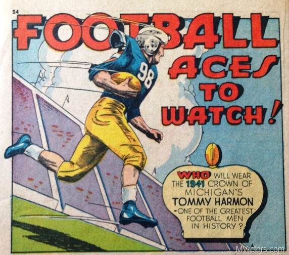 Tom Harmon Michigan Comic Strip