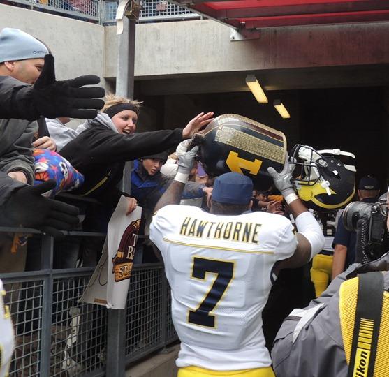 Brandin Hawthorne carries Little Brown Jug