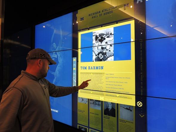 Crisler Center Hall of Honor Interactive