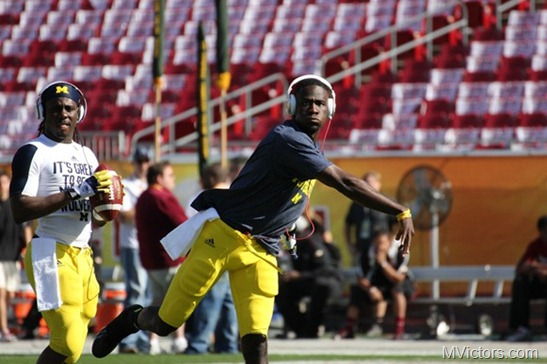 Devin Gardner - Michigan - Warm up
