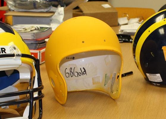 GB Gold helmet