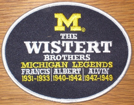 The Wistert Brothers #11 - Michigan Football Legends Patch