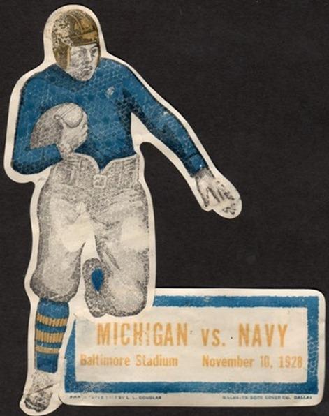 Navy vs. Michigan ad 1928 - Baltimore, MD