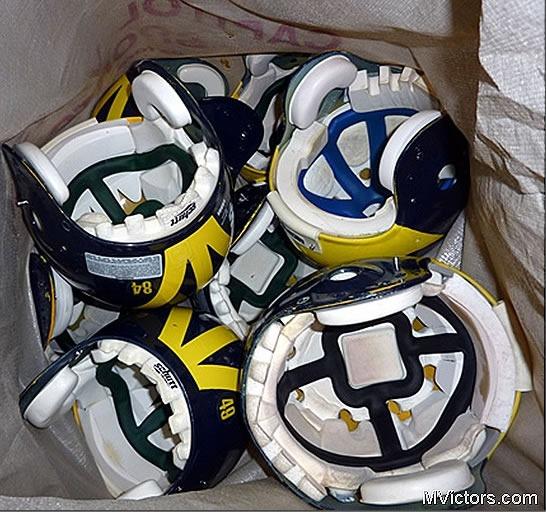 Michigan helmets shipped