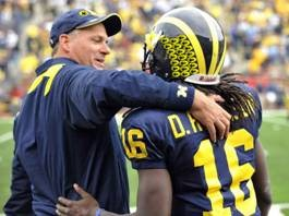 Denard Robinson with Rich Rodriguez