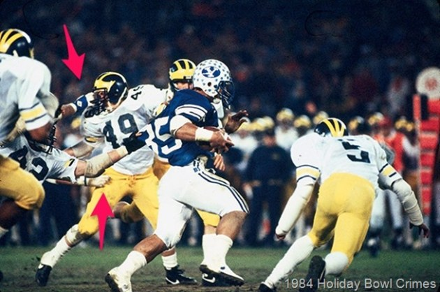 1984 Holiday Bowl Michigan BYU