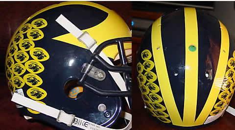 Bo S Helmet Stickers Mvictors Com Michigan Football History