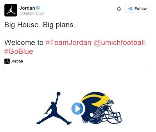 Michael Jordan Tweet