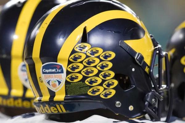 Uniform Timeline   MVictors com - Michigan Football History