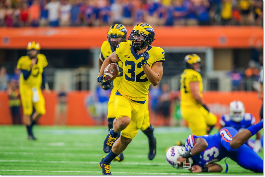 big sale 81a73 b0848 Uniform Timeline | MVictors.com - Michigan Football History