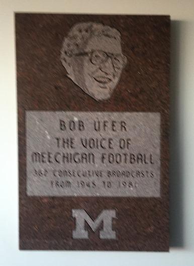 Bob Ufer Plaque at Michigan Stadium