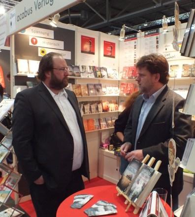 Buchmesse mit Verleger Björn Bedey