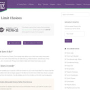 Gravity Perks: Limit Choices
