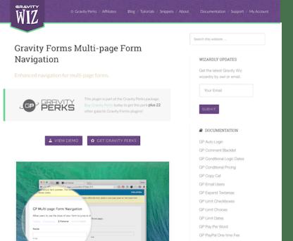 Gravity Perks: Multi-page Form Navigation
