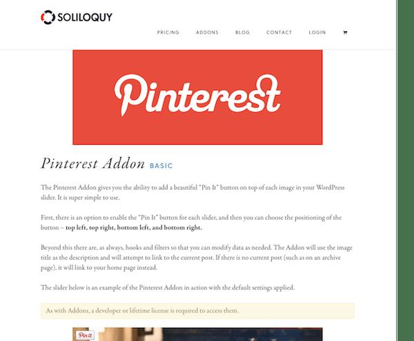 Soliloquy Add-On: Pinterest