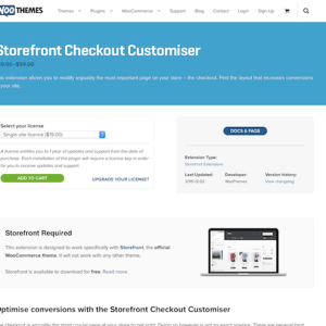 WooThemes – Storefront: Checkout Customiser