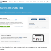WooThemes – Storefront: Parallax Hero
