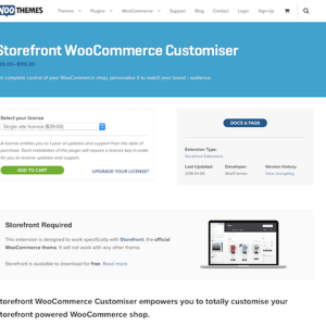 WooThemes – Storefront: WooCommerce Customiser