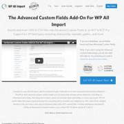 WP All Import Add-On: ACF
