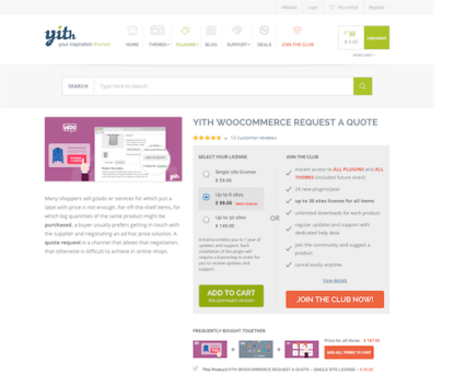 YITH WooCommerce: Request A Quote Premium