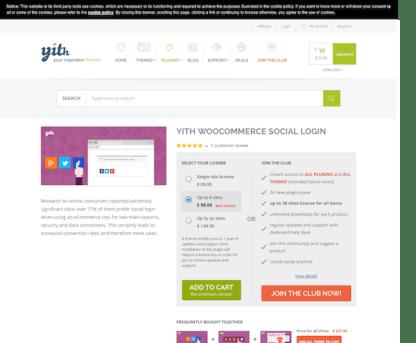 YITH WooCommerce: Social Login Premium