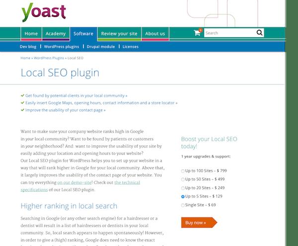 Yoast: Local SEO Premium Plugin