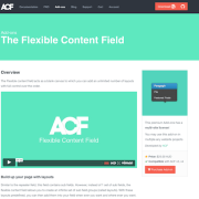 Advanced Custom Fields: Flexible Content Field