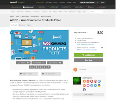 Codecanyon: WOOF - WooCommerce Products Filter