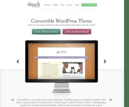 Elegant Themes: Convertible WordPress Theme