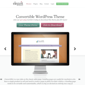 Elegant Themes: Convertible WordPress Theme